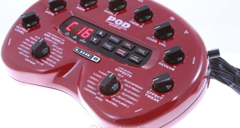 Line Pod Guitar Modeling Processor Sweetwater