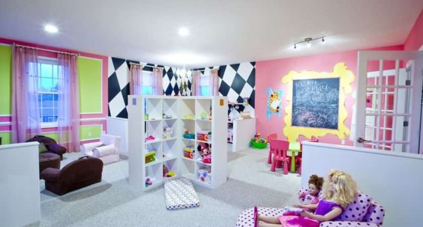 Little Girls Playroom Eclectic Game Rec Room Photos
