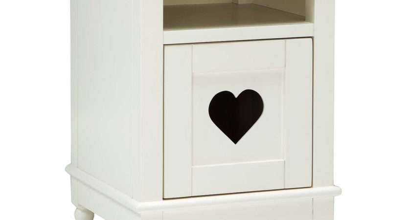 Little Home John Lewis Victoria Bedside Table White