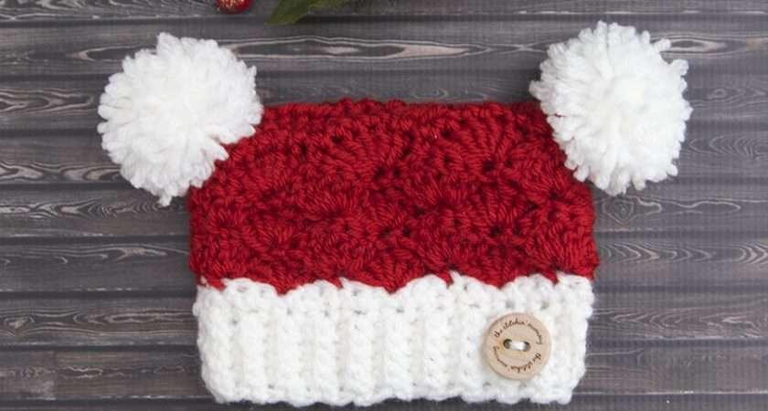 Little Santa Sack Hat Crochet Pattern Sizes