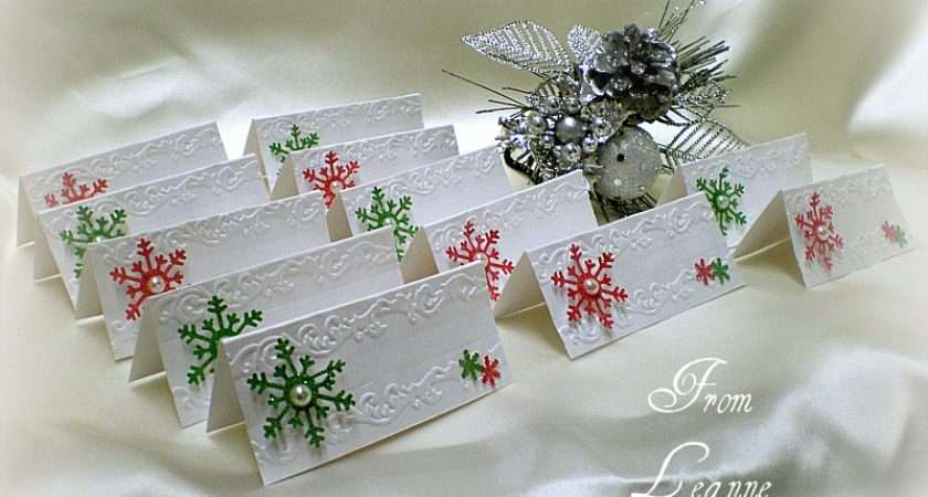 Little Sunshine Dinner Place Cards Matching Christmas Card