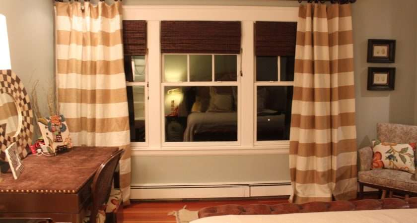 Living Livelier Bedroom Horizontal Striped Curtains