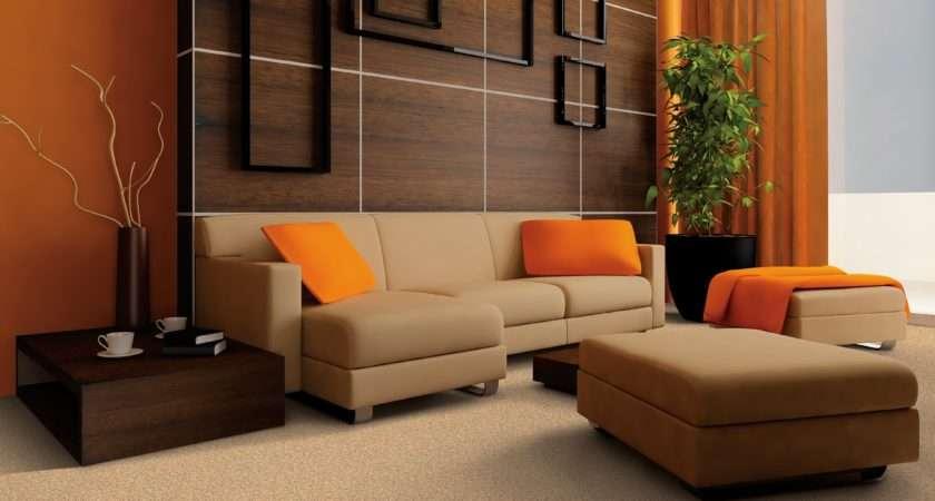 Living Orange Windows Curtain Sofa Yellow Cushions Room Color