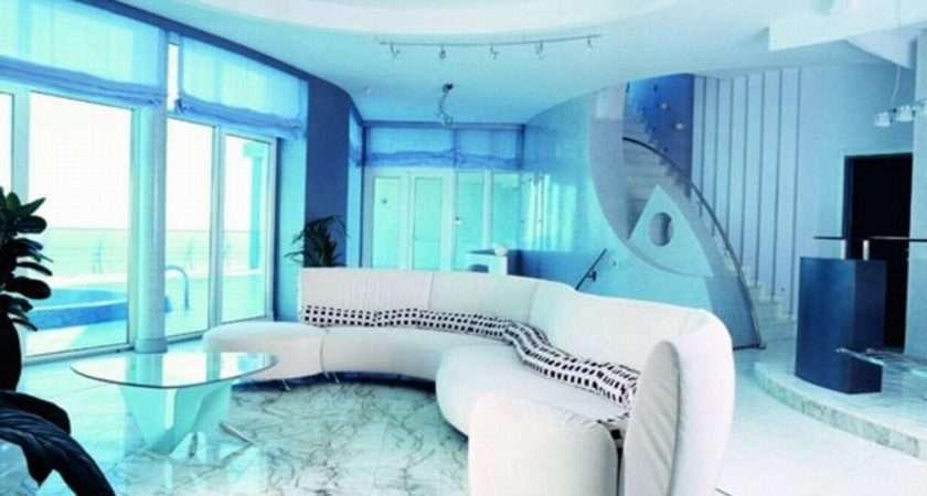 Living Room Cool Rooms Modern Home Design Soft Blue Color