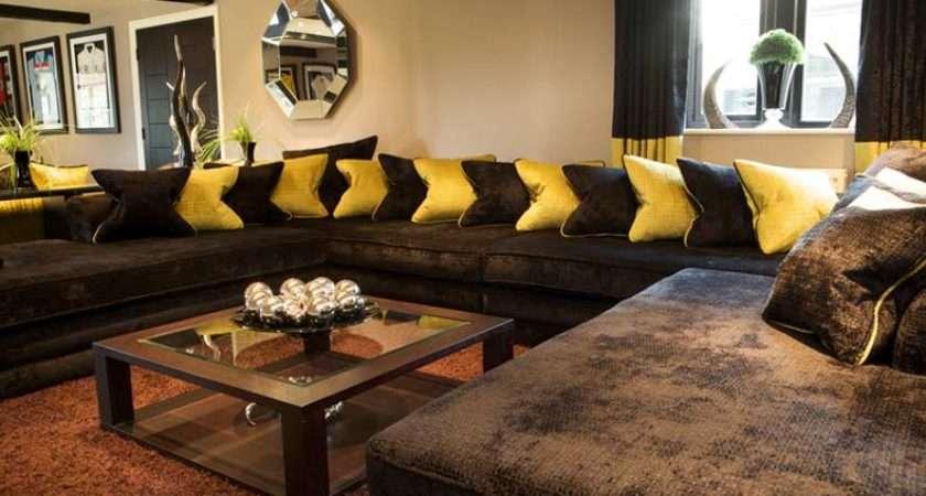 Living Room Decorating Ideas Brown Sofa Home