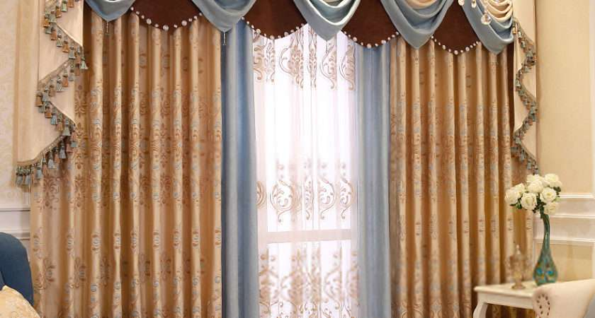 Living Room Decorative Jacquard Thermal Insulated Curtains