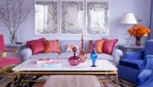 Living Room Designs Funny Colorful Decorating