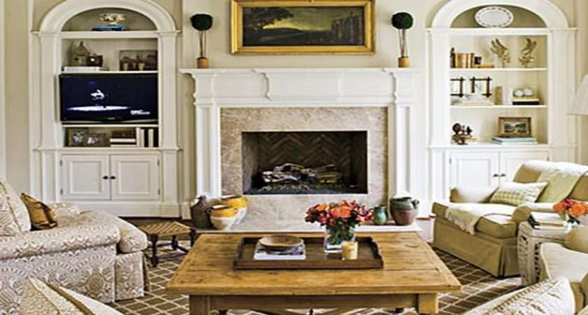 Living Room Fireplace Decorating Ideas Cool