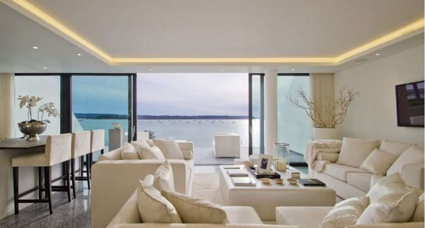 Living Room Has Light Coffer House Led Strip Soft