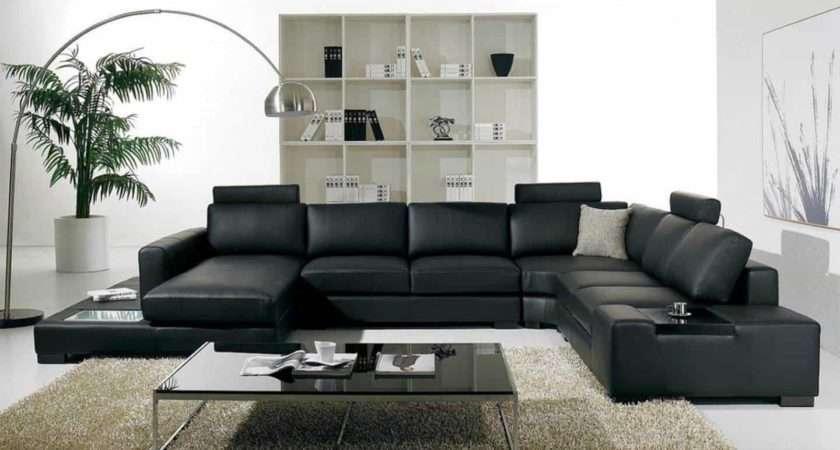 Living Room Ideas Black Leather Sofa Curtain Menzilperde