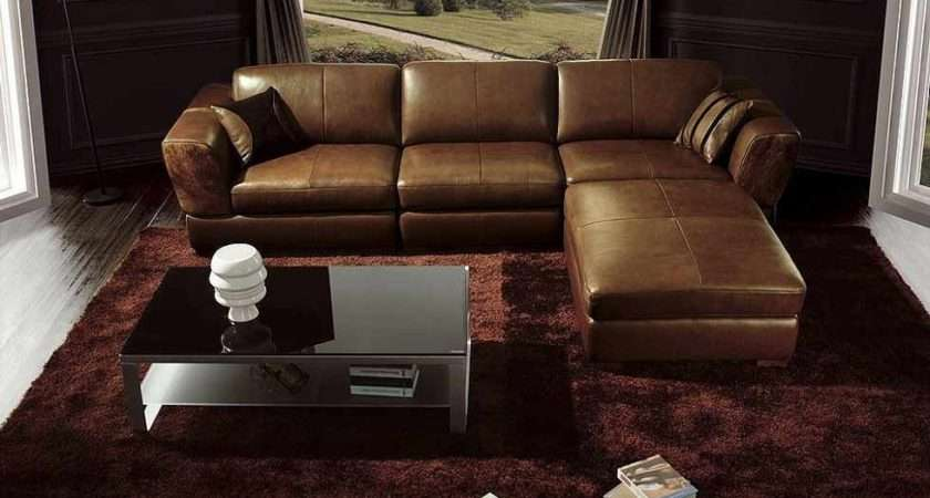 Living Room Ideas Leather Dark Brown Couch
