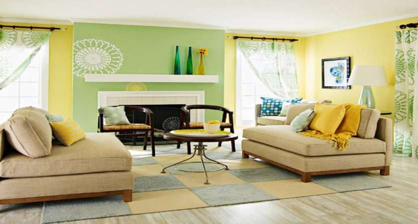 Living Room Ideas Yellow Blue