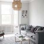 Living Room Makeover Painted White Floors Light
