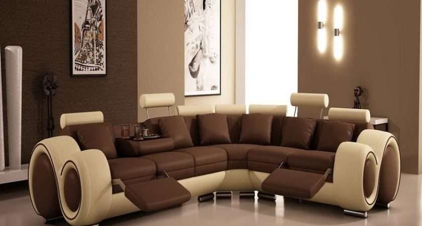 Living Room Modern Brown Paint Colors