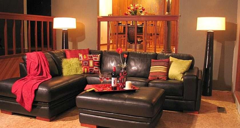 Living Room Pangaea Interior Design Red Lime Green Orange