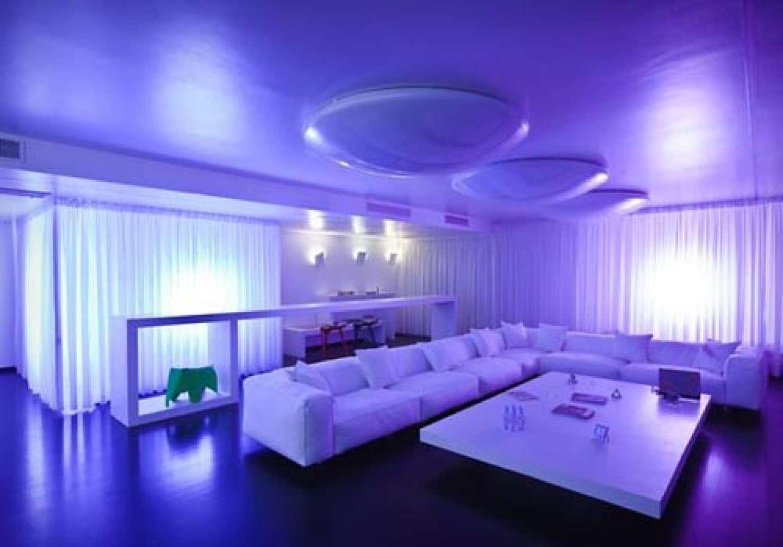 Living Room Purple Wall