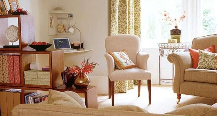 Living Room Stylish Office Area Housetohome