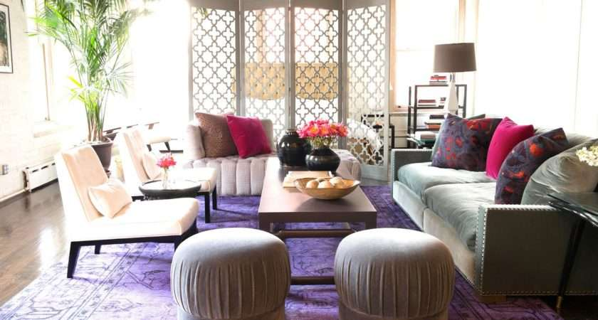 Living Room Zani Gugelmann New York City Loft Purple
