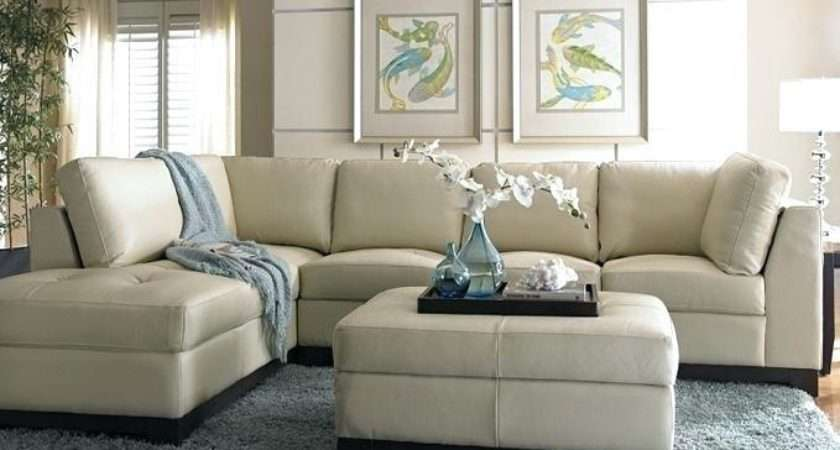 Living Rooms Cream Leather Sofas