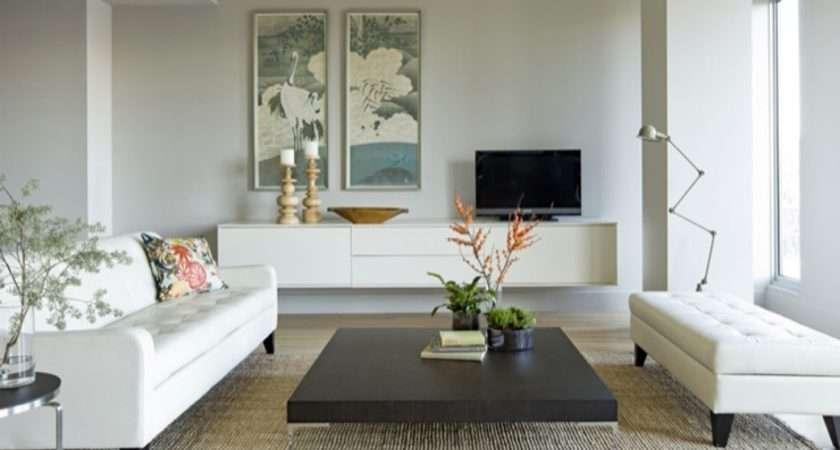Living Rooms Sofa Table Rug White Blue Wood Art Modern Room
