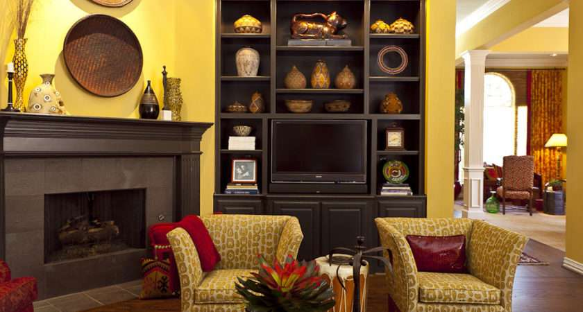 Living Rooms Yellow Brown Room Ideas