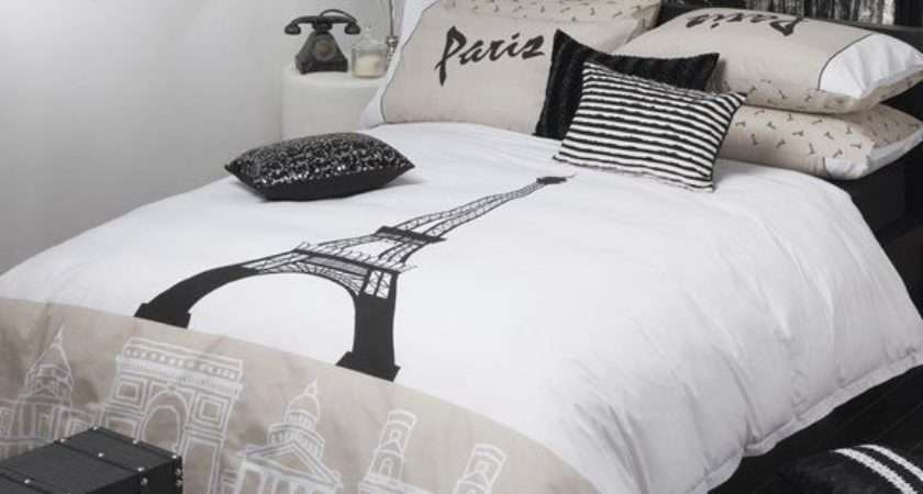 Logan Mason Paris Eiffel Tower Quilt Doona Cover Set