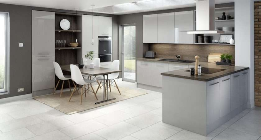 Logica Gloss Light Grey Our Kitchens English Rose