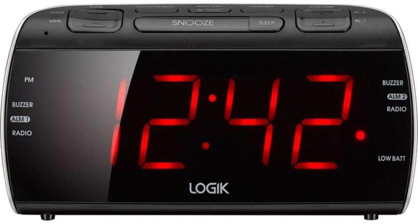 Logik Lcrb Analogue Clock Radio Black Silver