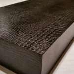 Long Floating Shelves Black Leather Alligator Mrselecta