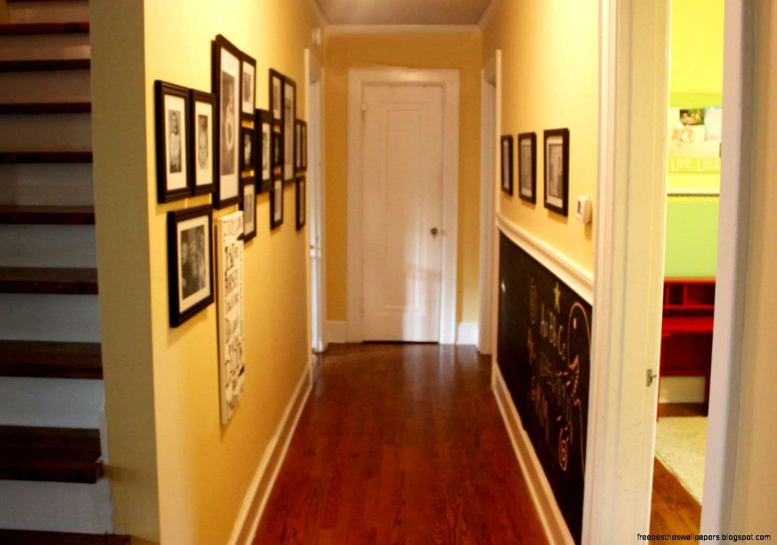Long Hallway Wall Decorating Ideas Hall