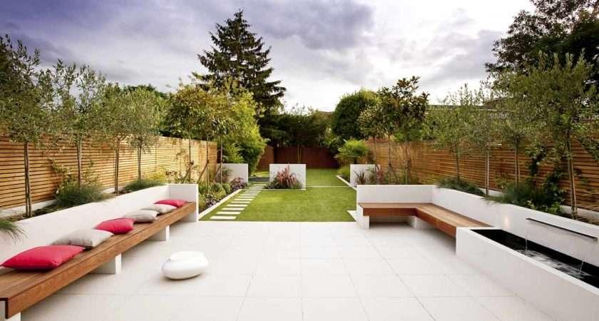 Long Thin Garden Design