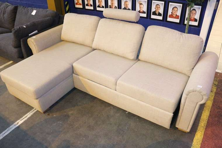 Lot Fabric Right Hand Chaise Corner Sofa Bed Rrp