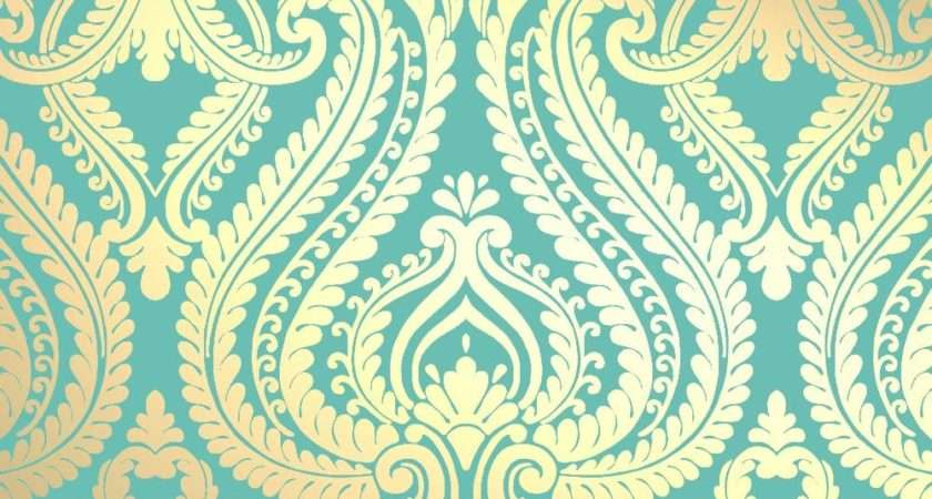 Love Shimmer Damask Metallic Designer