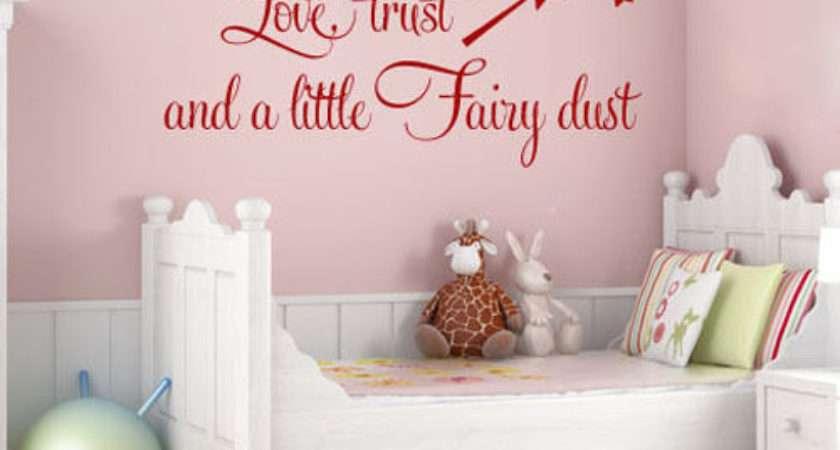 Love Trust Fairy Dust Baby Girls Teen Bedroom Wall Quote