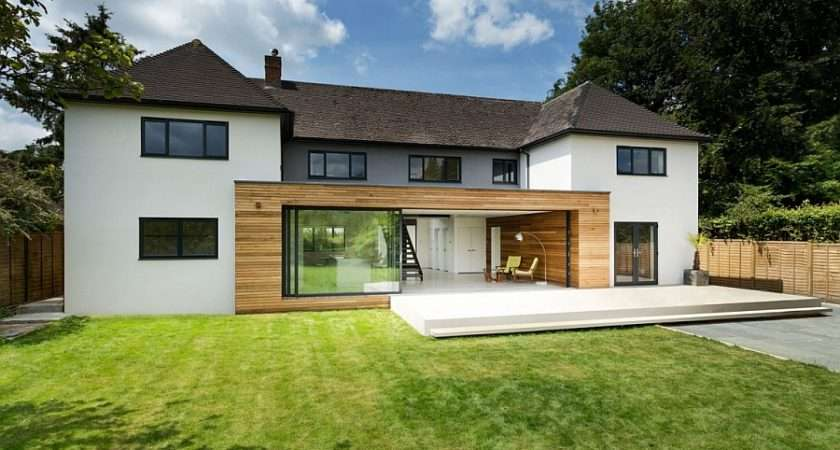Lovely House Winchester England Gets Trendy Modern