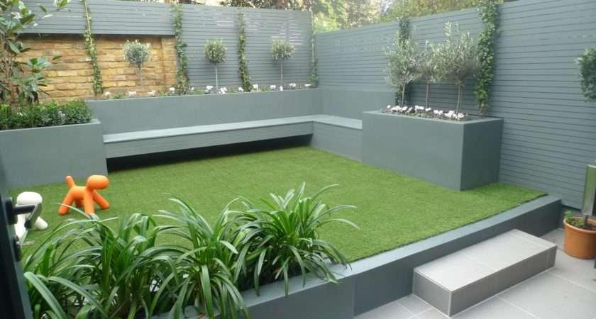 Low Maintenance Garden Achieved Using Composite Decking