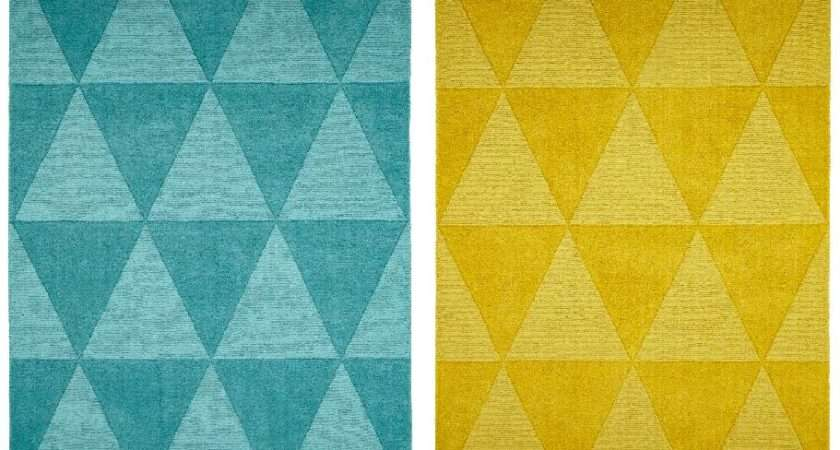 Lucille Teal Rug Colours Yellow