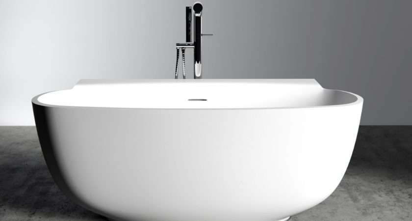 Lusso Stone Freestanding Baths Marni Resin Bath
