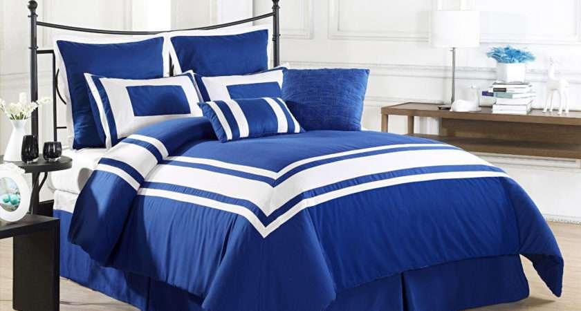 Lux Decor Queen Blue Comforter Set Reviews Home Best Furniture