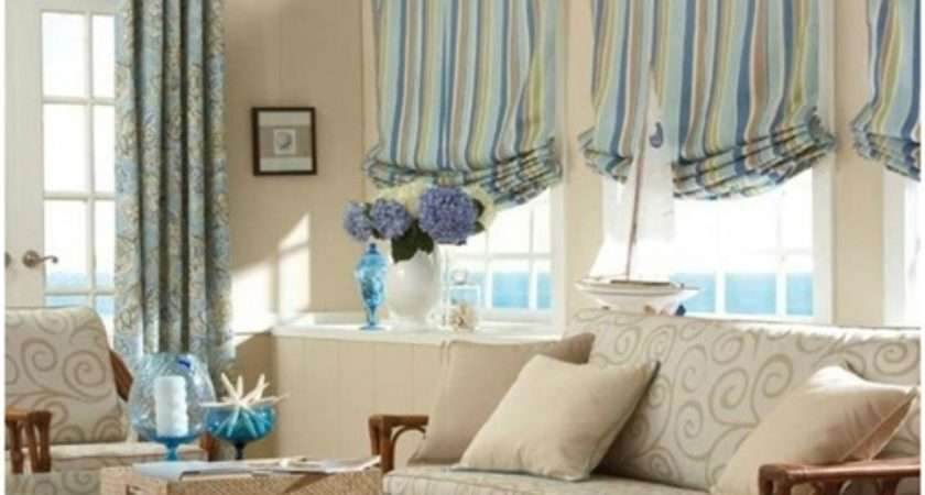 Luxurious Modern Living Room Curtain Design Interior
