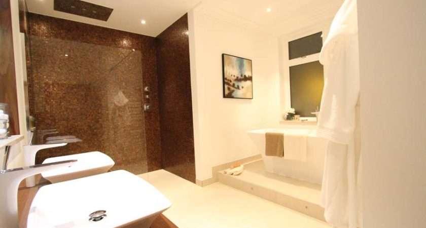 Luxury Bathroom Wetroom Rust Coloured Mosaic