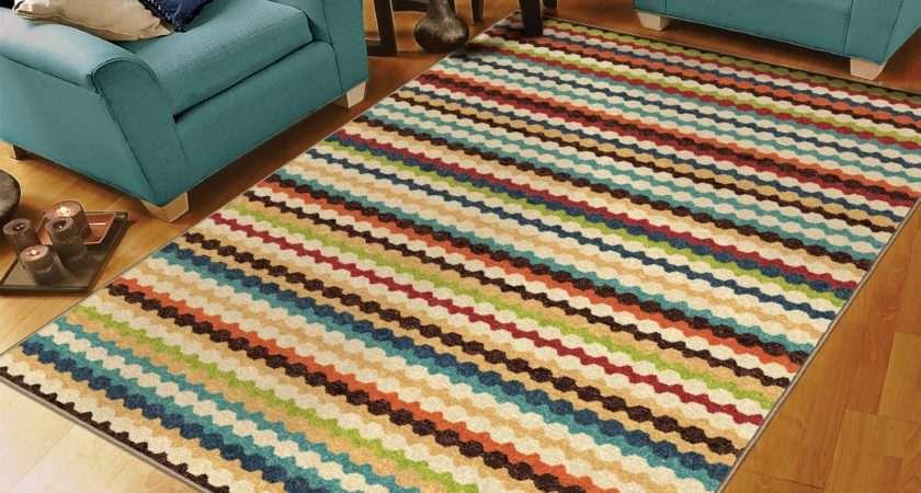 Luxury Bright Striped Rugs Innovative Design
