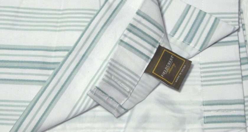 Luxury Dobby Stripe Pale Aqua Blue Green Fabric Shower Curtain Target