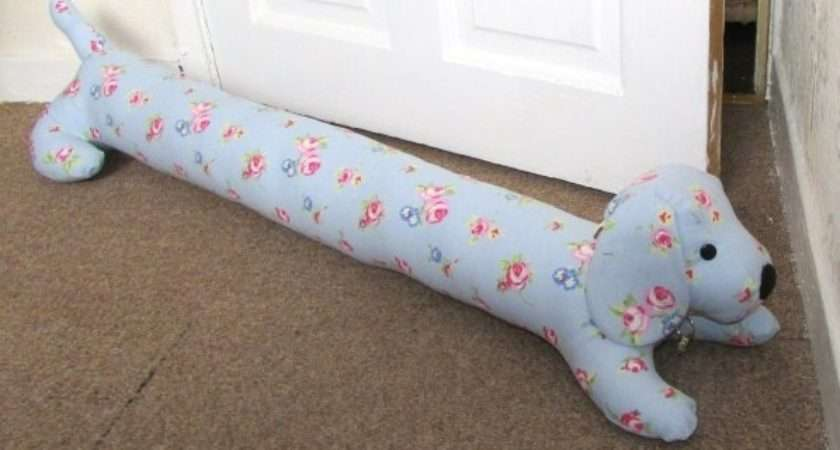 Luxury Dog Shaped Draught Excluder Multiple Fabrics Home