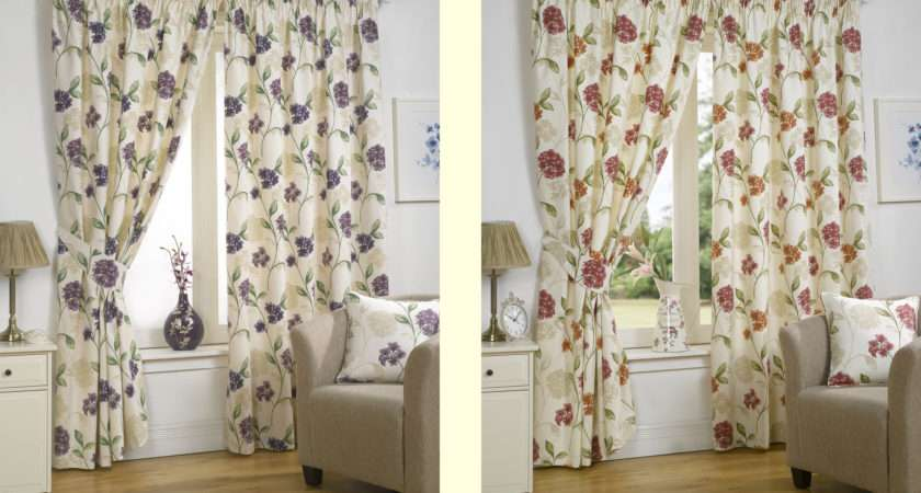 Luxury Floral Designer Ready Made Fully Lined Curtains Accessories