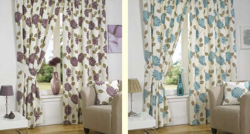 Luxury Floral Ready Made Fully Lined Curtains Accessories Available