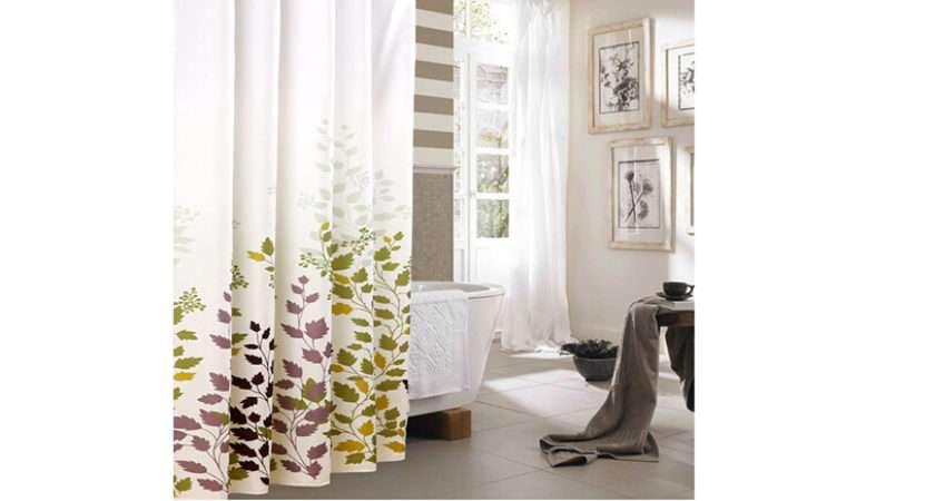 Luxury Polyester Fabric Bath Shower Curtain Waterproof