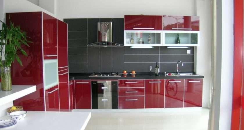 Luxury Red White Black Kitchen Tiles