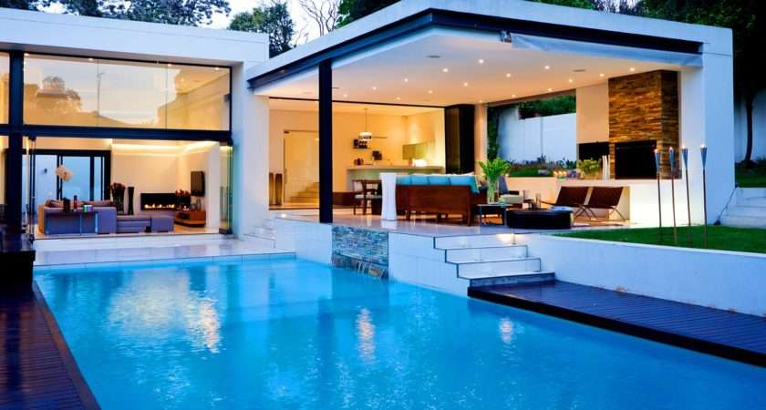 Luxury White Nuance Cool Houses Has Warm