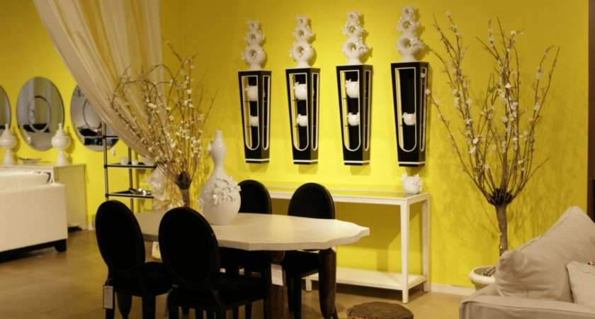 Luxury Yellow Dining Room Modern Design Furniture
